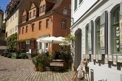 Square at the Cafe Ziegler in the Old Town of Mei§en