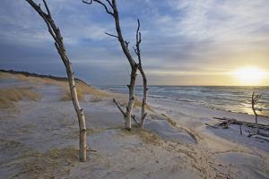 Sunset on the Western Beach of Darss Peninsula by Uwe Steffens