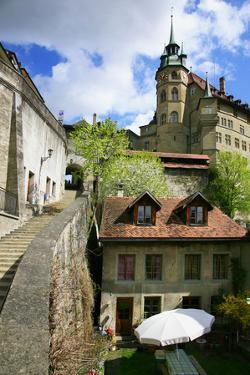 Switzerland, Fribourg on the Sarine River by Uwe Steffens