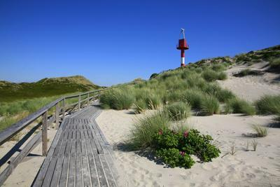 Wooden Path To At The Hrnum Odde In Front Of The Island Of Sylt Built In  Uwe Steffens.