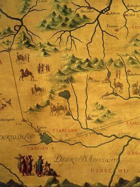 Uzbekistan Region, from Map of Asia Showing Route Taken by Marco Polo