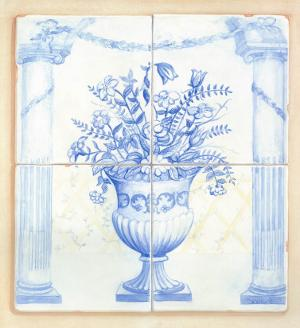 Jarrones Azules I by V. Alber