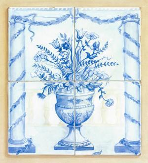 Jarrones Azules II by V. Alber