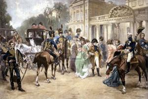 Arrival of Empress Mary-Louisa in Pariph by V^ De Paredes