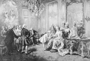 Wolfgang Amadeus Mozart Received by Madame De Pompadour by V. De Paredes