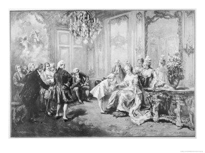 Wolfgang Amadeus Mozart Received by Madame De Pompadour