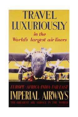 Travel Luxuriously Poster by V.l. Danvers