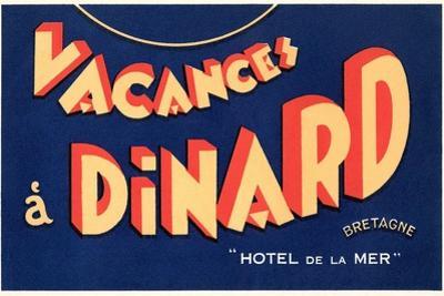 Vacances a Dinard, Hotel De La Mer