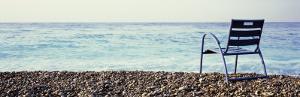 Vacant Chair on the Beach, Nice, Cote De Azur, France