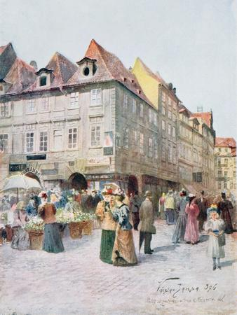 Havelska Ulice and Melantrichova Ulice, Prague, Illustration from 'Stara Praha (Old Prague)',…