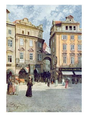View of Staromestsky Rynk, from 'Stara Praha'