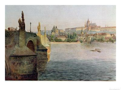 View of the Charles Bridge from Krizovnicka Namesti, from 'stara Praha