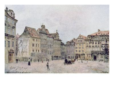 View of the North East Side of the Staromestsky Rynk in 1896, from 'Stara Praha'