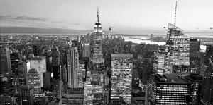 Aerial view of Manhattan, NYC by Vadim Ratsenskiy