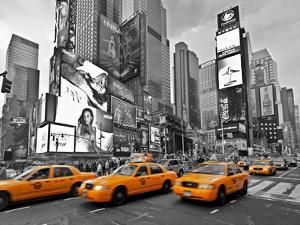 Taxis in Times Square, NYC by Vadim Ratsenskiy