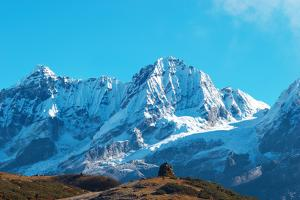 High Mountains Covered by Snow by Vakhrushev Pavel