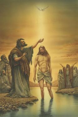 John Baptizing Jesus by Val Bochkov