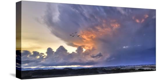 Val d'Orcia Sunset-Richard Desmarais-Stretched Canvas