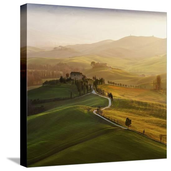 Val D'Orcia-Jarek Pawlak-Stretched Canvas