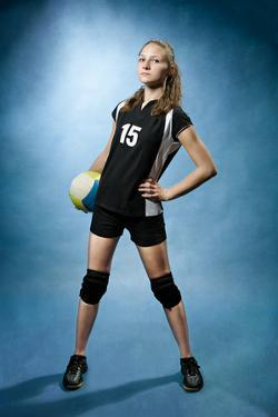 Volleyball Girl by Val Thoermer