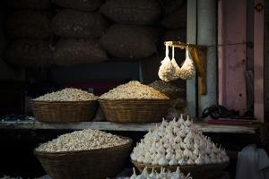 Garlic Market 2 by Valda Bailey
