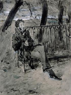 Alexander Pushkin by Valentin Aleksandrovich Serov