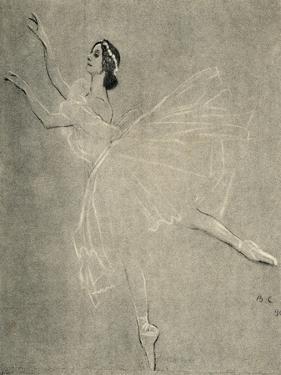 Anna Pavlova in ballet Les sylphides by F Chopin by Valentin Aleksandrovich Serov