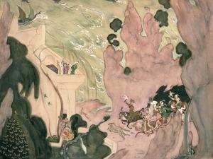 Curtain Design For Nikolai Rimski-Korsakov's Ballet 'sheherezade', 1910 by Valentin Aleksandrovich Serov