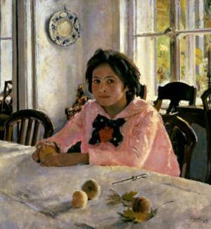 Girl with Peaches, 1887 by Valentin Aleksandrovich Serov