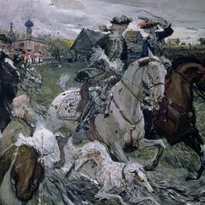 Peter II (1715-30) and the Tsarevna Elizabeth (1709-62) Hunting, 1900 by Valentin Aleksandrovich Serov