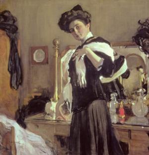 Portrait of Henrietta Hirshmann by Valentin Aleksandrovich Serov