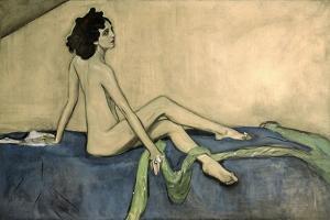 Portrait of Ida Lvovna Rubinstein (1880-1960) 1910 by Valentin Aleksandrovich Serov
