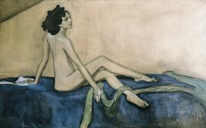 Portrait of Ida Rubinstein by Valentin Aleksandrovich Serov