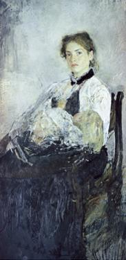 Portrait of N. Ya Derviz by Valentin Aleksandrovich Serov