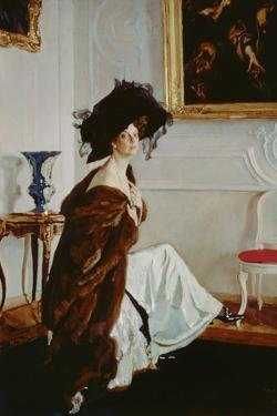 Portrait of Princess Olga Konstantinovna Orlova (1872-1923) 1911 by Valentin Aleksandrovich Serov