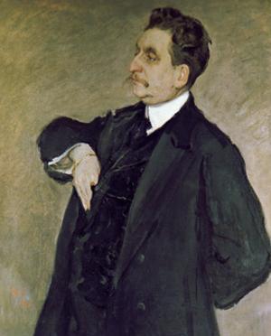 Portrait of Vladimir Girshman by Valentin Aleksandrovich Serov