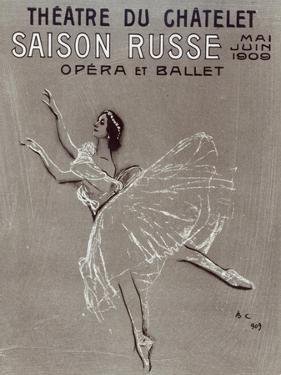 Poster for the 'saison Russe' at the Theatre Du Chatelet, 1909 by Valentin Aleksandrovich Serov