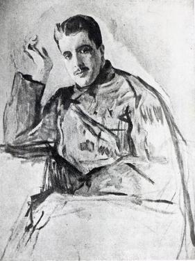 Serge Diaghilev, 1904 by Valentin Aleksandrovich Serov