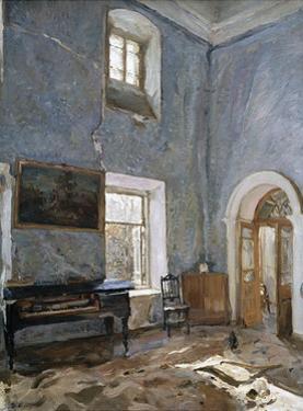 The Hall in the Old House, the Obinskys' Estate, Belkino by Valentin Aleksandrovich Serov