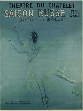 Advertising Poster for the Ballet Dancer Anna Pavlova in the Ballet Les Sylphides, 1909 by Valentin Alexandrovich Serov