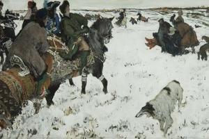 Peter I on the Hunt, 1902 by Valentin Alexandrovich Serov