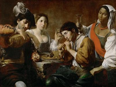 Meeting in a Tavern (Musician and Drinker)