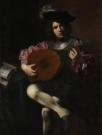 Lute Player, c.1625-26 by Valentin de Boulogne