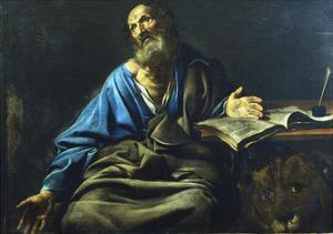 St Mark the Evangelist, C1611-1632 by Valentin de Boulogne