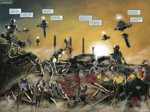 Zombies vs. Robots: No. 7 - Page Spread by Valentin Ramon