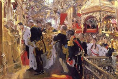 The Coronation of Emperor Nicholas II in the Assumption Cathedral, 1896