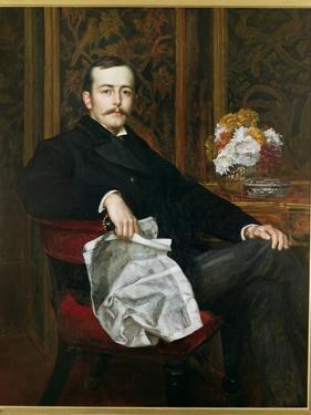Portrait of Sir Francis Layland-Barratt (B.1860) by Valentine Cameron Prinsep