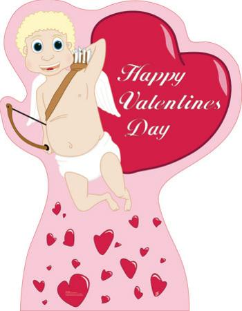 Valentine's Day - Cupid with Hearts Lifesize Standup