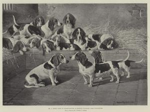 Mr J Moss's Pack of Basset-Hounds at Bishops Waltham, Near Winchester by Valentine Thomas Garland
