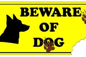 Beware of Dog Sign by ValentinT